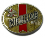 MICHELOB (BUDWEISER) Belt Buckle + display stand - Officially Licensed. Code FF8